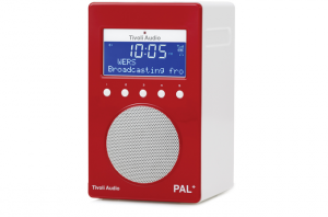 Tivoli Audio PAL+ Digitalradio 1097 rot/weiß Outdoor-Radio palpgred