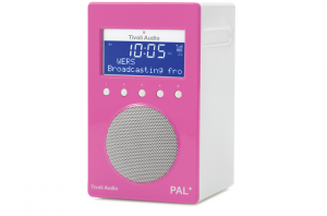 Tivoli Audio PAL+ Digitalradio 1100 pink/weiß Outdoor-Radio palpgpnk