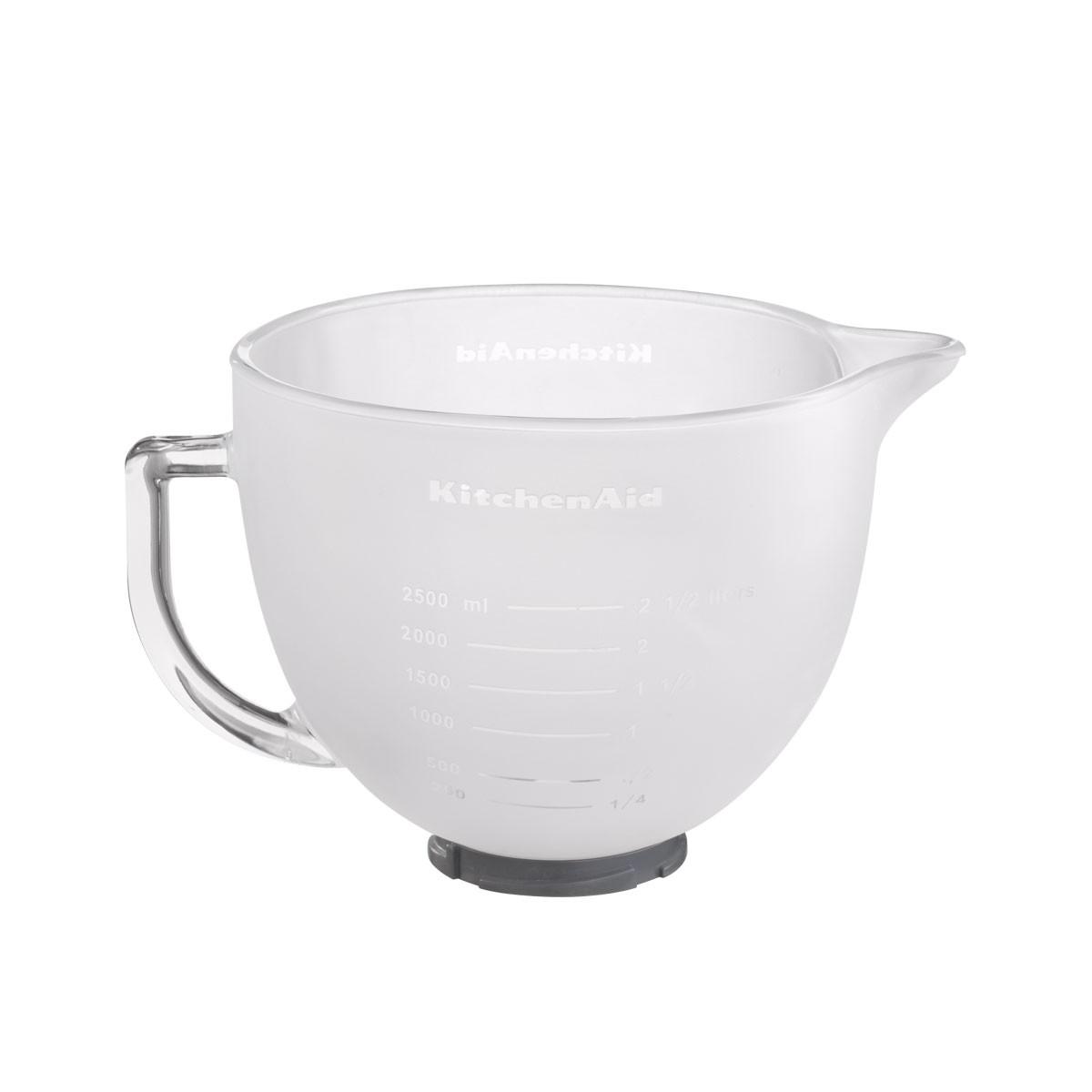KitchenAid Milch Glas Schüssel 4,83 ltr. 5K5FGB Milch-Glasschüssel