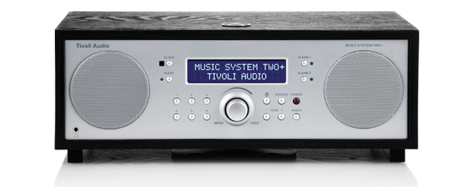 Tivoli Audio Model Music System TWO+ schwarz/silber msy2pblk 4014